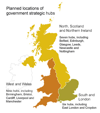 Planned hubs