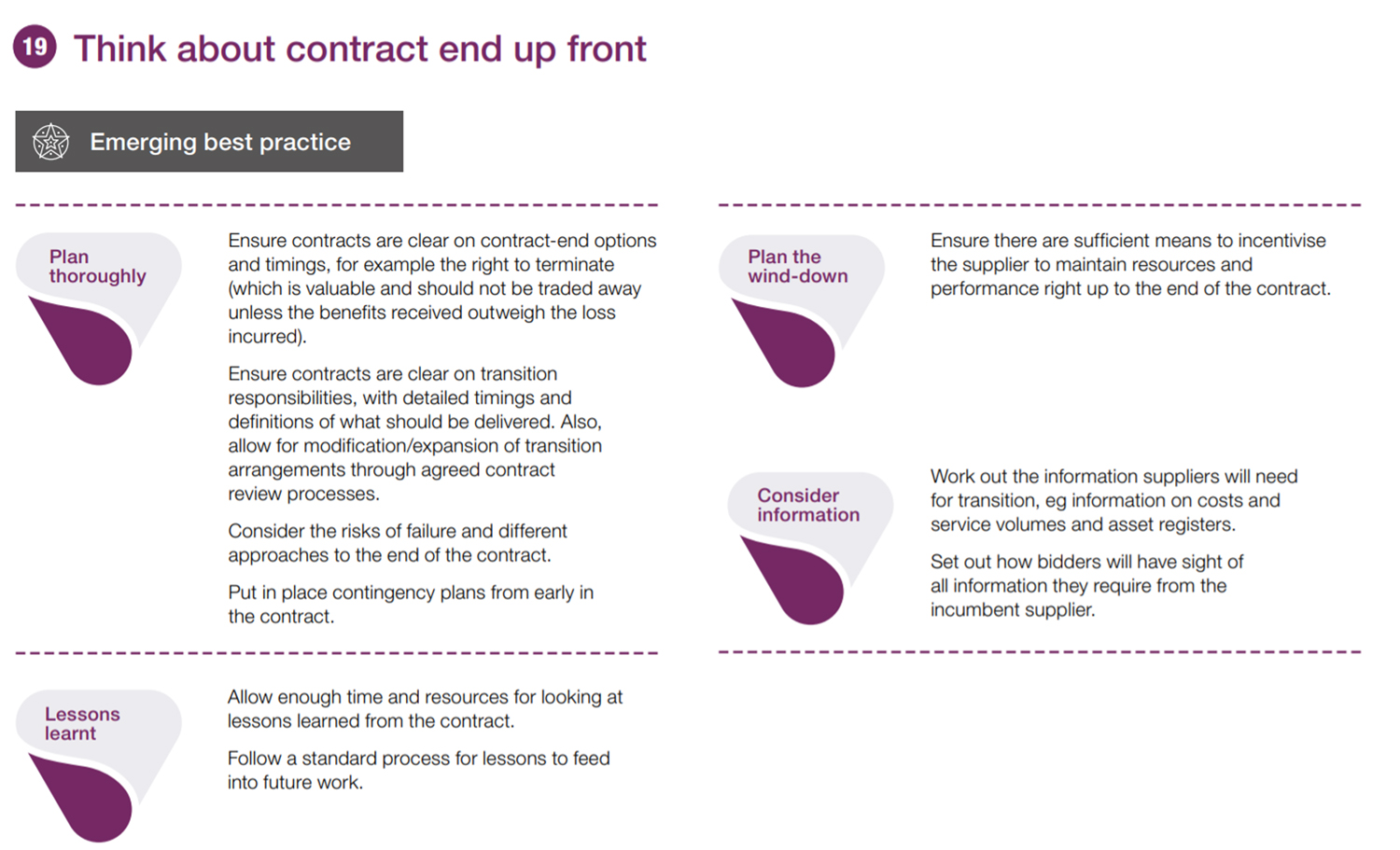 An image of contract planning insight 19 from NAO guide to commercial and contract management