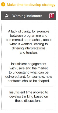An image of the signs indicating insufficient planning from insight 1 of our guide to commercial and contract management