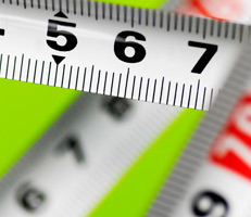 section of a tape measure