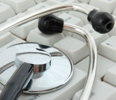 Keyboard with stethoscope