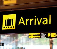 Arrivals gate