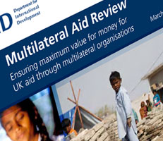Front cover of Multilateral aid review publication
