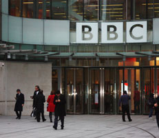 Entrance to BBC building
