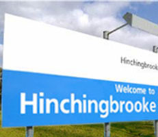 Hospital welcome sign