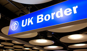 UK border sign
