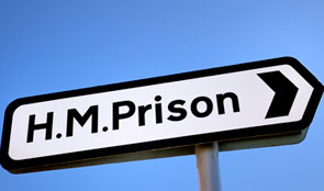 Road sign for Prison