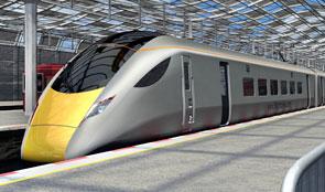 Train in platform