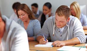 Exams being taken