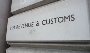 Building sign of HM Revenue & Customs