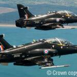 Hawk aircraft in flight