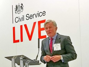 The Comptroller and Auditor General giving a talk at Civil Service live