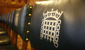 Chair back with the Portcullis image