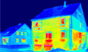 Infrared view of houses