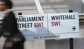 Parliament Street and Whitehall road signs