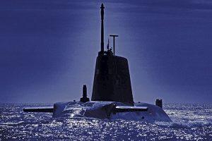 Submarine submerging