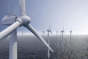 Wind turbines out to sea