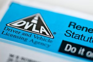 Close up of DVLA form