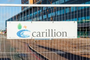 Carillion sign on a closed building