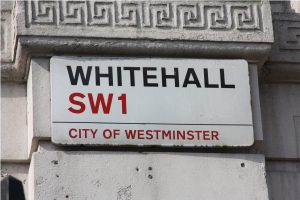 Street sign showing Whitehall SW1