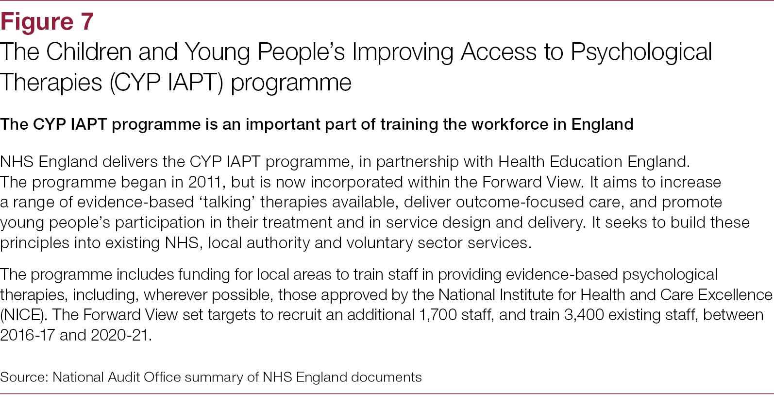 Improving children and young people's mental health services