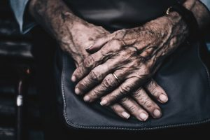 Pair of elderly hands