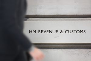 HM Revenue and Customs building sign