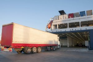 Freight loading onto ferry