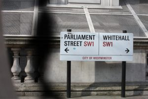 Whitehall/Parliament street sign