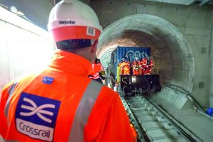 Crossrail workers in tunnel