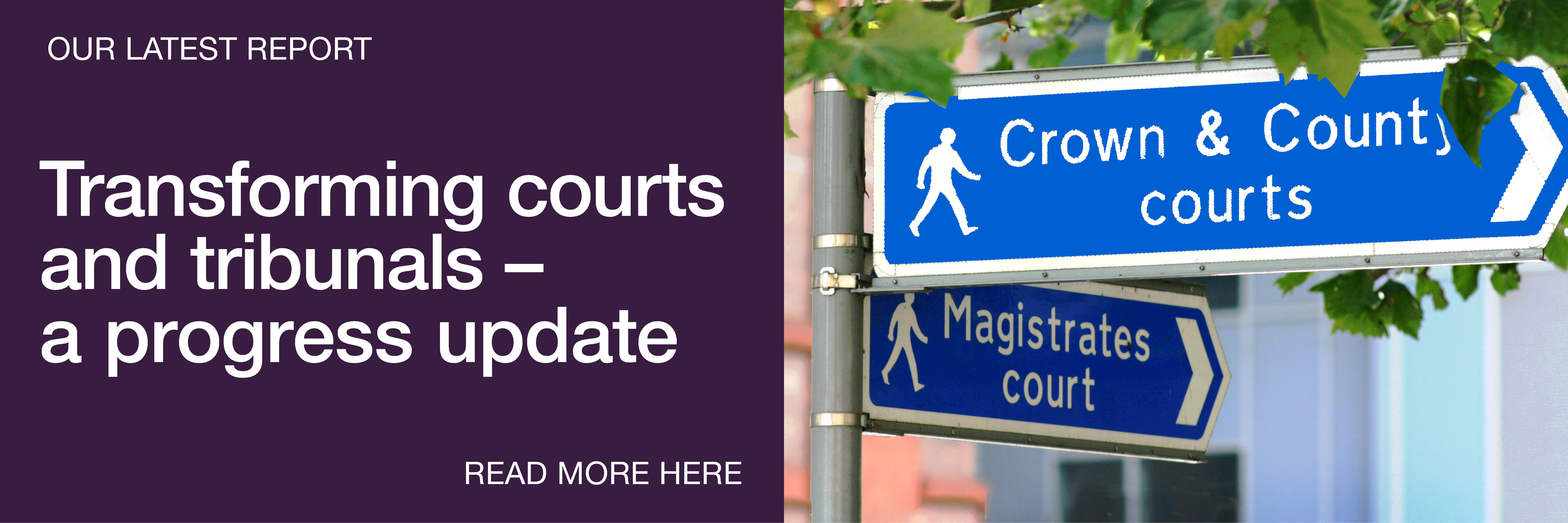 Home page banner transforming courts and tribunals