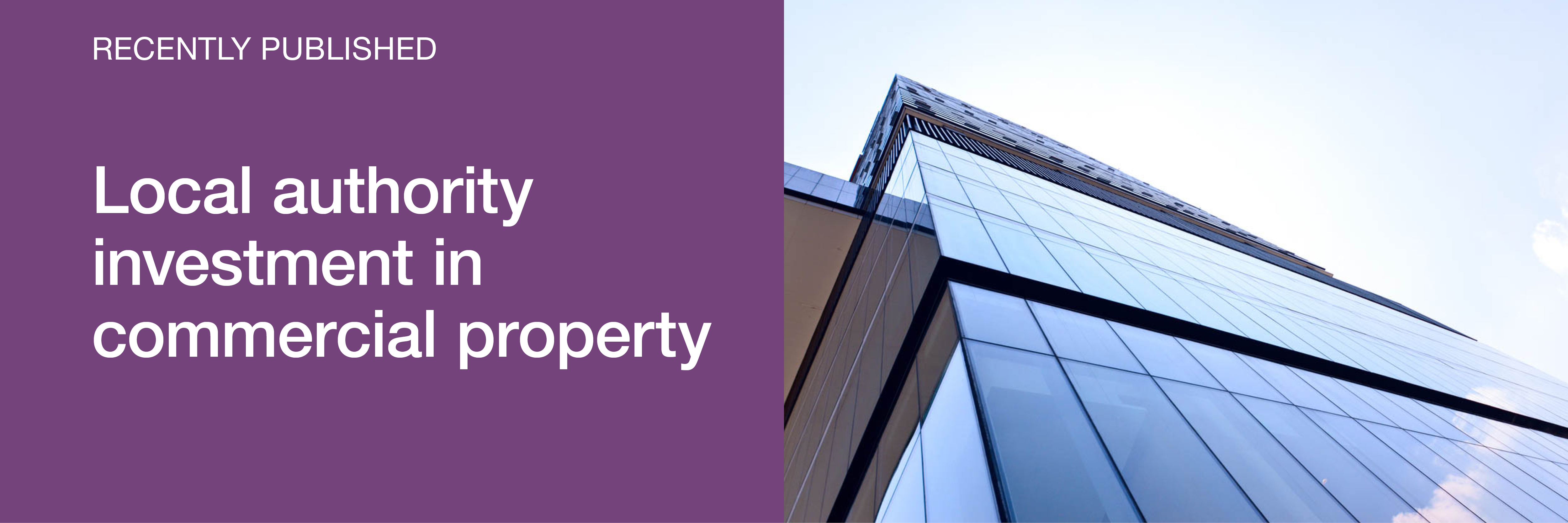 Local authority investment in commercial property report