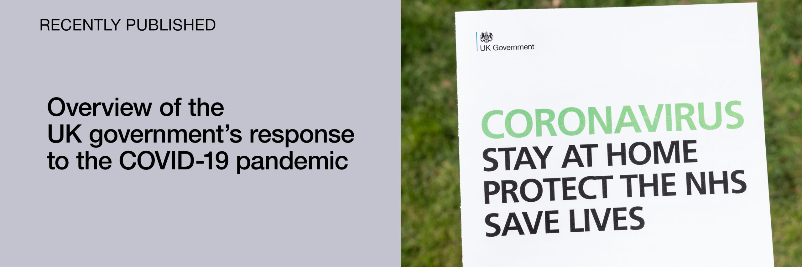 Recently published: Overview of the UK government's response to the COVID-19 pandemic