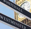 signs to Whitehall and Westminster