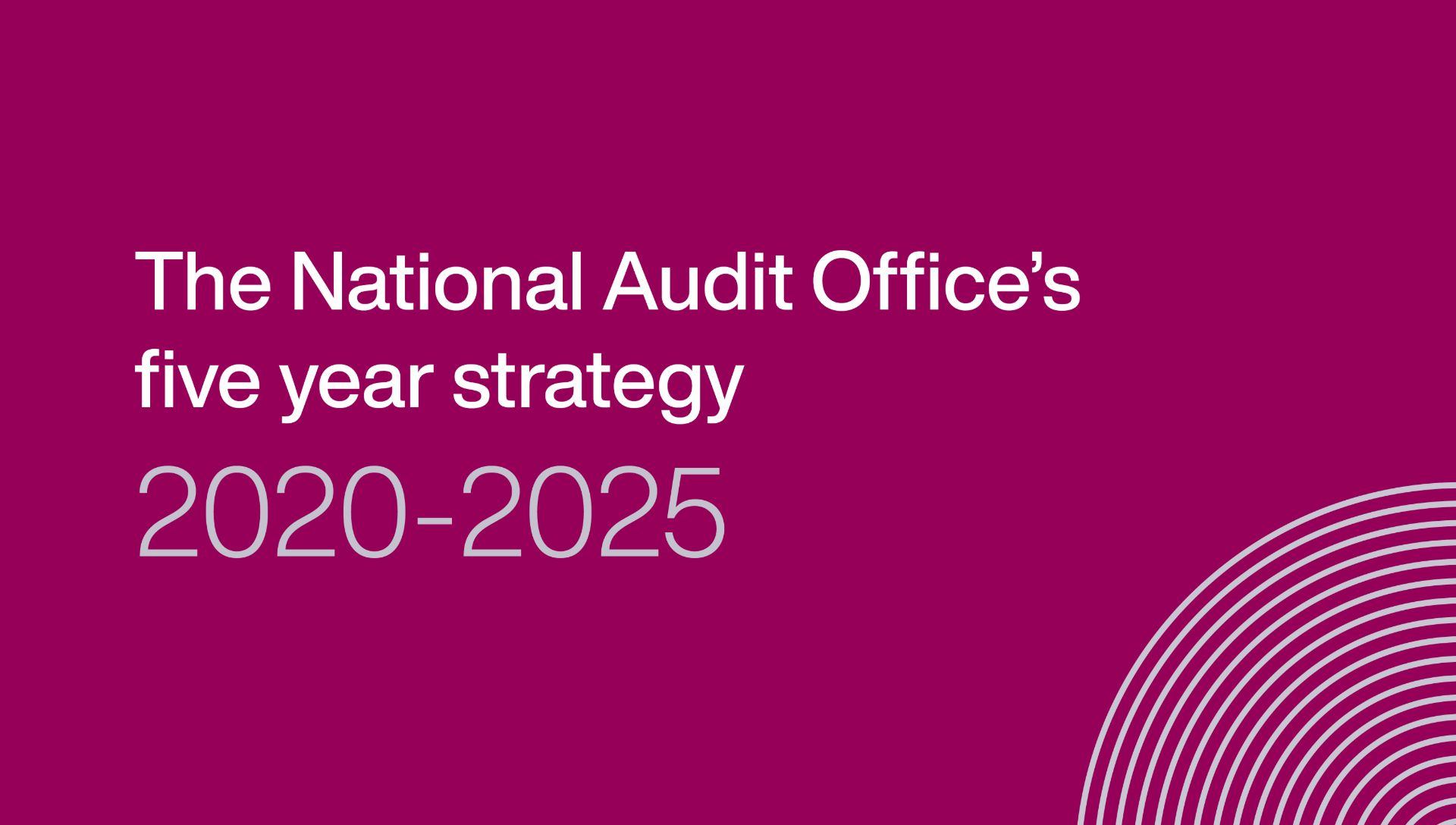Link to the National Audit Office's five year strategy 2020-25