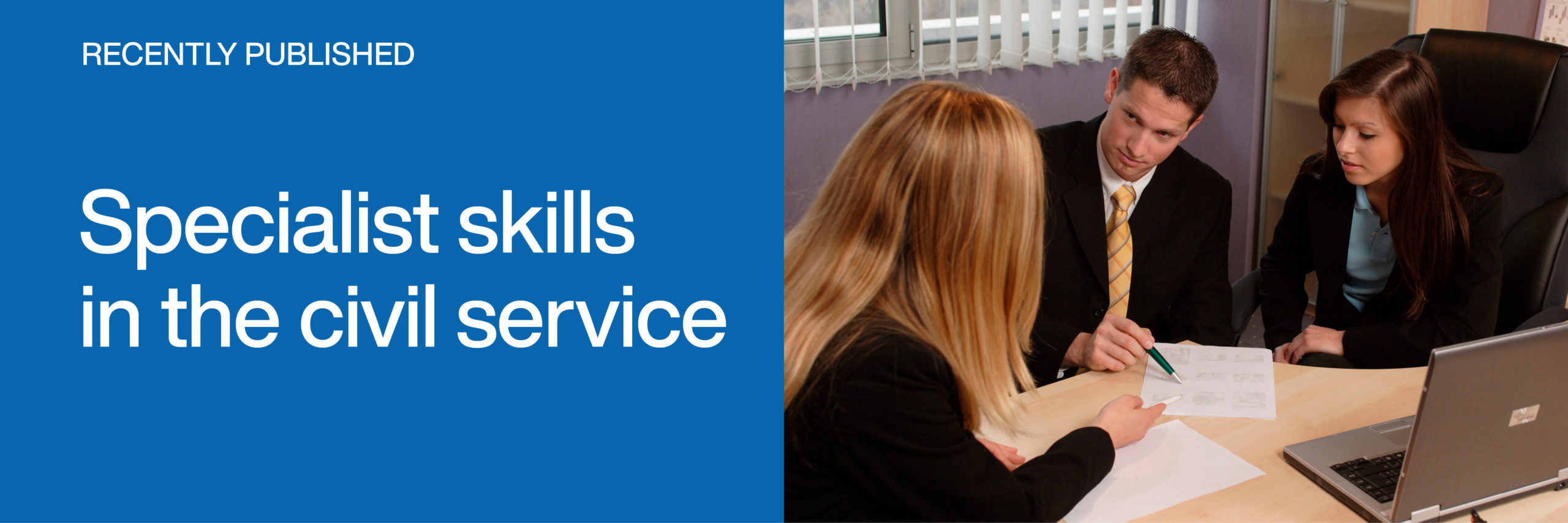 Recently published: Specialist skills in the civil service