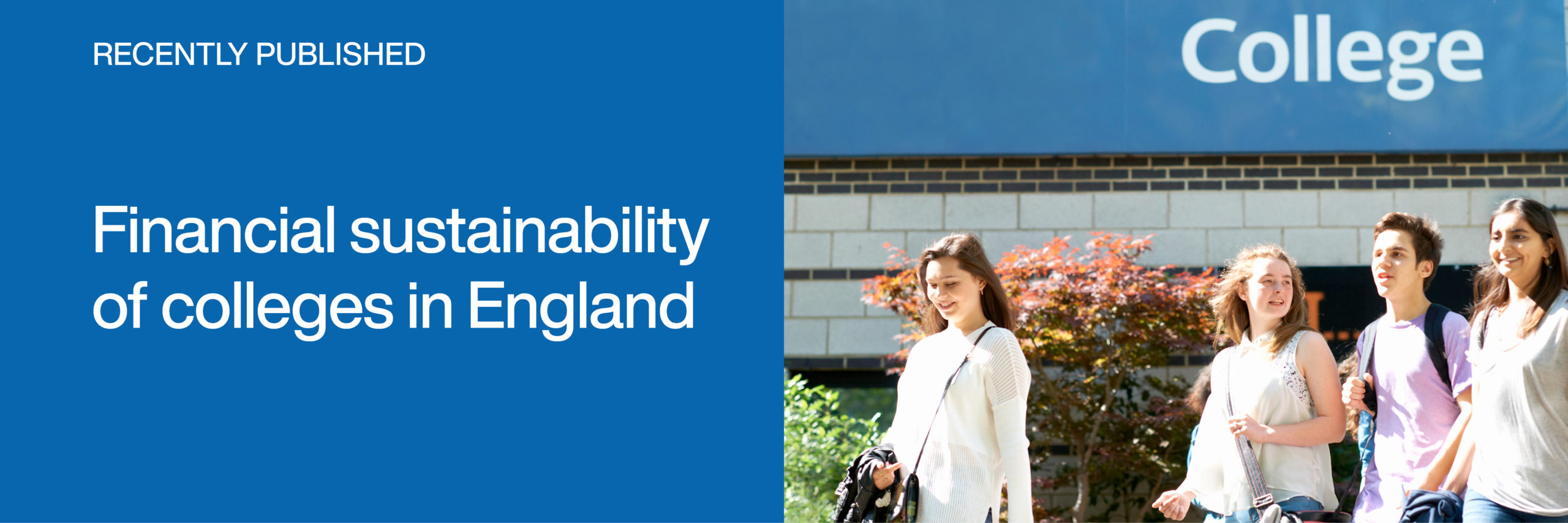 Link to the report Financial sustainability of colleges in England