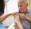 Man receiving an injection