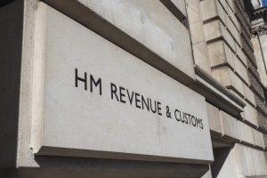 HM Revenue building sign