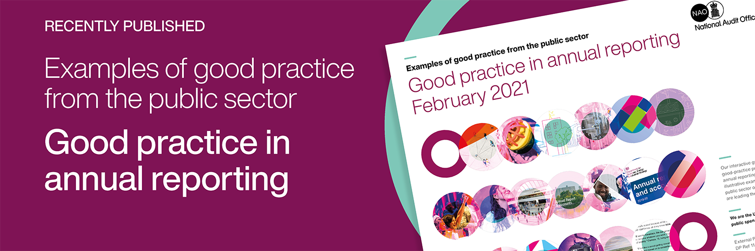good practice in annual reporting february 2021 - home page banner